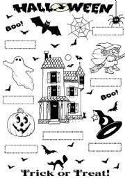 Halloween - worksheet by valleygirl