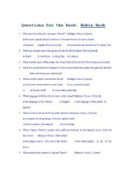 English Worksheets: Teacher: Questions for the book Robin Hook