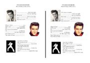 English Worksheets: A song Elvis presley It�s now or never