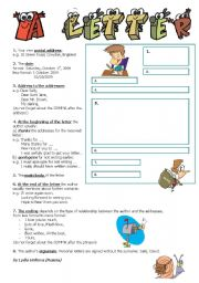 English Worksheets: A LETTER TO A FRIEND