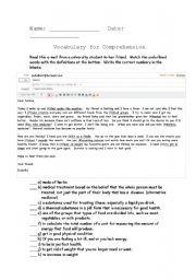 English teaching worksheets: Fitness