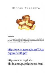 English Worksheets: Hidden treasure