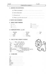 English Worksheets: GREETINGS AND PRONOUNS