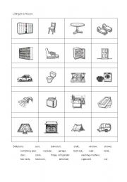 English Worksheet: Living in a house.