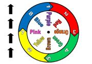 English Worksheets: Colour Spinner Game  with Chart ( I made the spinner myself.  It is not from a template.)