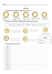 English Worksheets: Hours