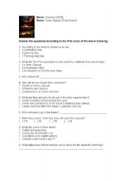 English Worksheets: Time Capsule - Movie Knowing [2009]