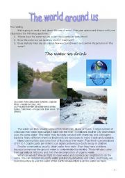 English Worksheet: The water we drink