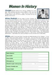 Printables History Reading Comprehension Worksheets english teaching worksheets history women in reading comprehension