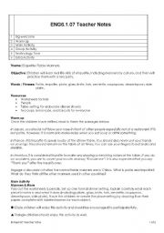English teaching worksheets Table manners