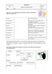 English Worksheet: Listening exercises on text �Video games increase aggression�