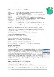 English Worksheet: New Technologies