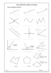 english worksheets vocabulary basic elements of geometry. Black Bedroom Furniture Sets. Home Design Ideas