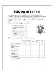 Vocabulary worksheets > School > Bullying