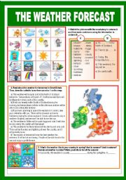 English Worksheets: The Weather forecast
