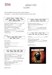 English Worksheet: Green Day