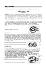 English Worksheets: Gears 2