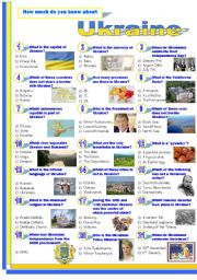 English Worksheet: Ukraine-Quiz