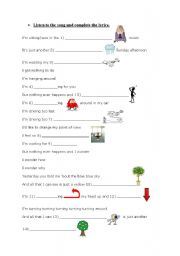 English Worksheet: lemon tree (part 2)