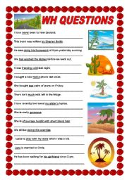 English Worksheets: Wh questions - intermediate