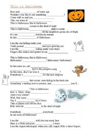 worksheet: This is Halloween(song)