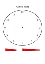 English worksheet: Making a clock for the time