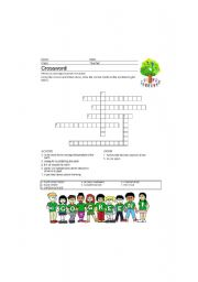 English Worksheet: Crossword Puzzle on Climate Change