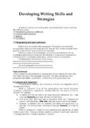 English Worksheets: Developing writing skills