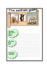 English Worksheet: The selfish giant