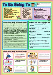 English Worksheet: To be going to 2