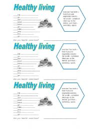 Printables Healthy Living Worksheets printables healthy living worksheets safarmediapps english worksheet living