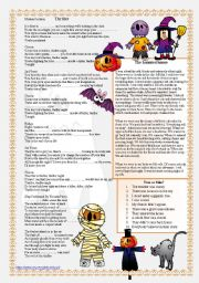 English Worksheet: HALLOWEEN - reading and listening comprehension