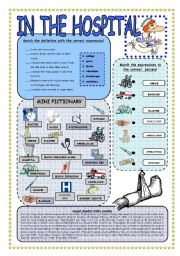 English Worksheet: In the hospital - worksheet
