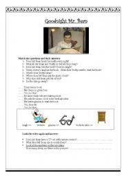English worksheet: Goodnight Mr. Bean