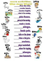 English Worksheets: activities for every day