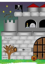 Halloween Castle Board Game (13 pages all together) Now updated with answer key!