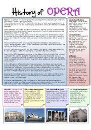 English Worksheet: History of opera
