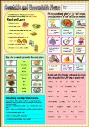 English Worksheets: Countable and Uncountable nouns 3