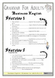 English Worksheet: Grammar for Adults (Business English)