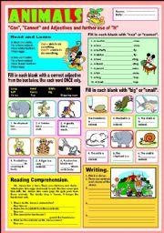 English Worksheet: Animals -