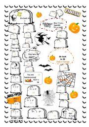English Worksheets: Halloween Game
