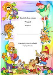 English Worksheets: ELAward2