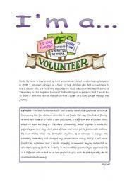 Reading - I´m a volunteer