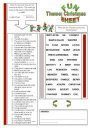 English teaching worksheets: Christmas