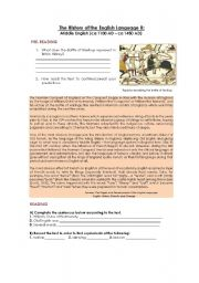 HISTORY OF THE ENGLISH LANGUAGE II: The Middle English Period