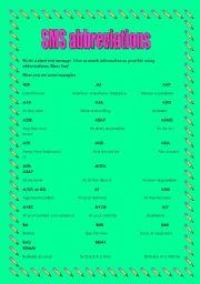 English Worksheet: Sms language (10 pages)
