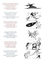 English Worksheet: What�s a limerick ? create your own poem