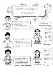 CLOTHING AROUND THE WORLD - ESL worksheet by maalpo