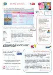 English Worksheet: On the Internet