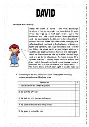 English Worksheet: TEST YOUR ENGLISH - DAILY ROUTINE